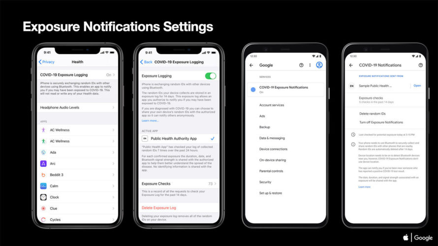 AppleとGoogle共同開発APIの詳細を公開。新型コロナウイルス対策