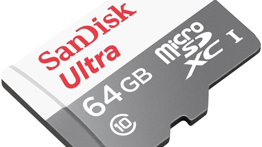[6/18、GV-HDRECで使ってます。2020年6月:実機レビュー]SanDisk microSDXC ULTRA 64GB microSDカード おすすめ(microSDXCカード128GB)